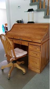 Oak Roll-top Desk