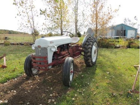 Ford 8N Tractor, Blade & Lift Bar